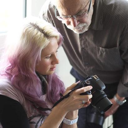 """Workshop """"Das sinnliche Portrait"""" mit Dozent Max Watzinger Foto: Friedemann Hinsche"""