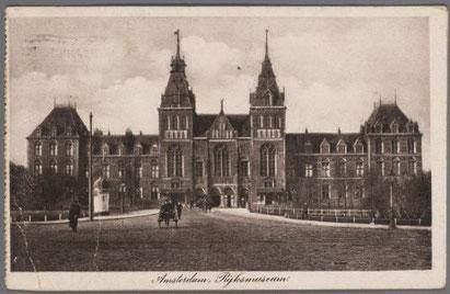 Postcard: Rijksmuseum Amsterdam-1927