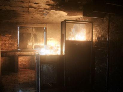 Gezielter Gasbrand im Brandschutzdorf Andelfingen – Beispiel: Küche oder Labor