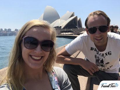 Selfie bij het Sydney Opera House