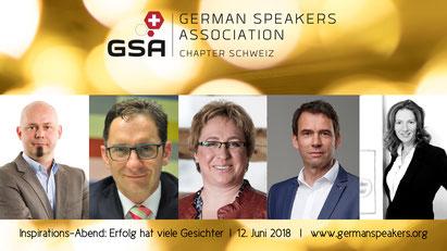 """Anton Dörig: Speaker am GSA-Event in Zürich vom 12.06.218 (Thema des Abends """"Erfolg hat viele Gesichter"""")"""