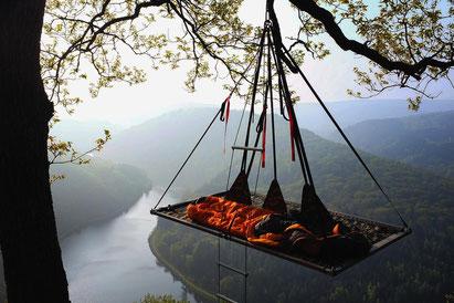 Übernachtung im Baum, Baumcamping, Baum Camping, Portaledge, Cloef, Mettlach, Saarschleife, Saarland, Hängezelt