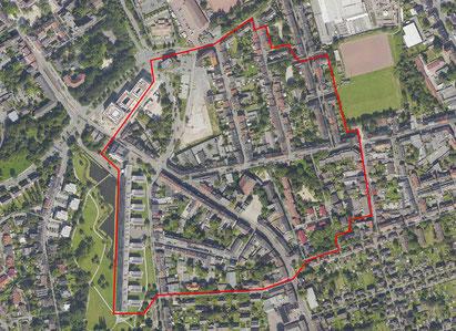 Evakuierujgskarte der Stadt Gelsenkirchen