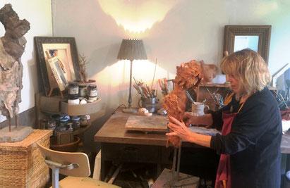 artiste sculpteur Honfleur sculptures Chris Jobert atelier galerie