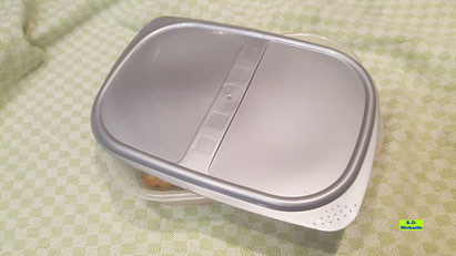 Mikrowellengeeignete Schale mit lose aufgelegtem Deckel für in der Mikrowelle - ohne Wasser - gegarte Kartoffeln für Gnocchis aus Dinkel-Dreams 3
