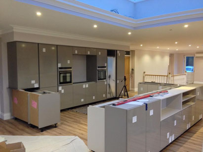 Brighton and Hove Kitchens quality of work during installation