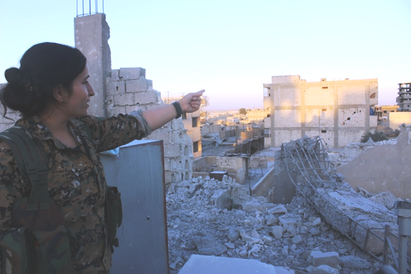 YPJ - fighter i Kobane, september 2017