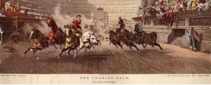 Course de chariot dans le Circus Maximus à Rome (© Getty/Hulton Archives)