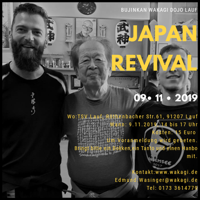 Japan Revival, Bujinkan Budo Taijutsu, Kampfkunst, Lauf an der Pegnitz, Wakagi,