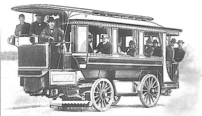 Der erste Batteriebus 1898 in Berlin