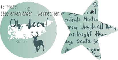 Template Geschenkanhänger - Weihnachten