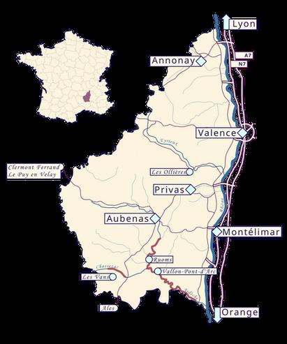 Pour venir faire du canoë kayak à Vallon Pont d Arc depuis la vallée du Rhône ou du Massif Central