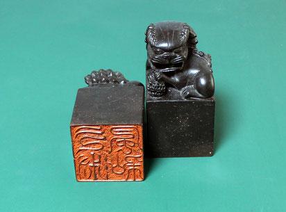 少納言之璽  印材サイズ 160×78×78㎜材 料 肖山紅石 技法 篆刻