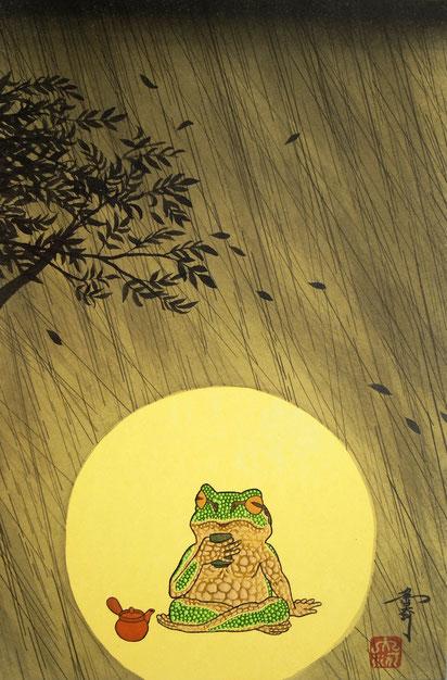 「奏」 日本画 P4
