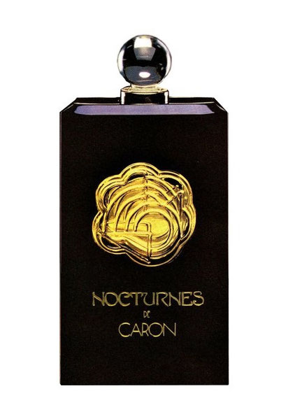 1981 - NOCTURNES : FLACON EAU DE PARFUM ENCHASSE DANS ETUI NOIR EN PLASTIQUE