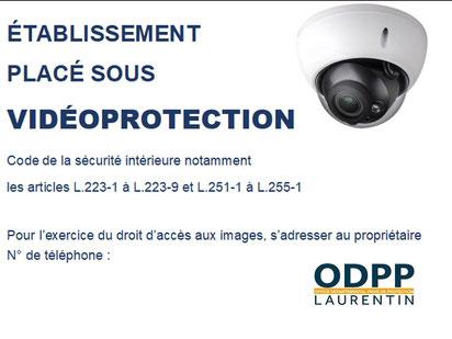 affiche informative public système de vidéoprotection