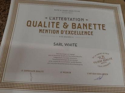 Diplôme Banette Ma Boulangerie Café Le Blanc