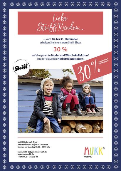 Image Design. Plakat Sale 30% Steifshop für die Firma MuKK. Funkenflug Design Münster.