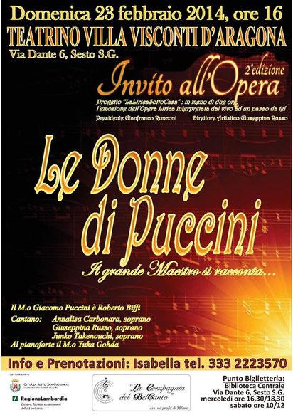 Manifesto Donne di Puccini