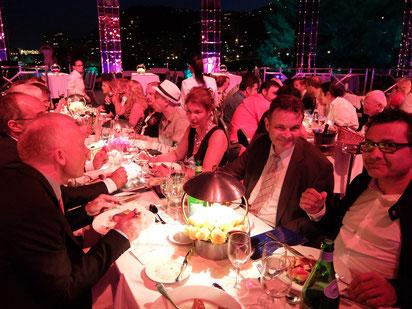 Gala-Dinner im Monte Carlo Sporting Club unter freiem Himmel