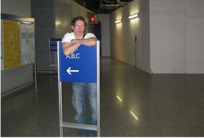 Auf meinen Heimatflughafen FRA (Frankfurt a. M.). Danke, Marcin!