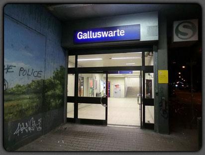 Galluswarte - Ausgang Frankenallee
