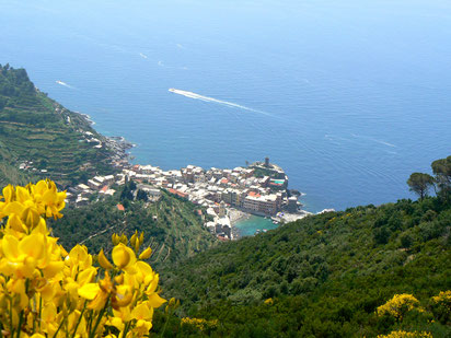 view to Vernazza