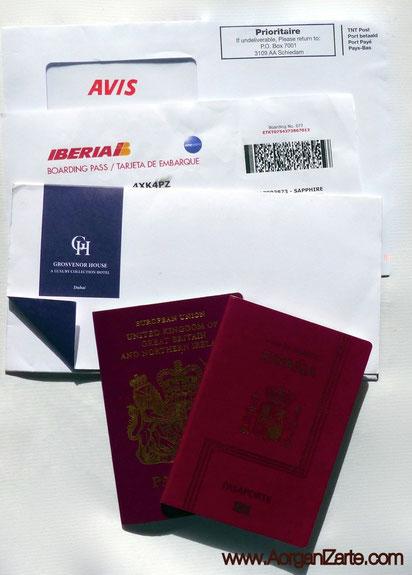 Asegúrate que tu documentación de viaje está en orden - www.AorganiZarte.com