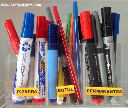 como organizar los rotuladores - www.aorganizarte.com