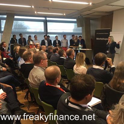 freaky finance, Immopreneur Kongress 2017, Workshopraumbühne, Darmstadtium, Eleonora Weber spricht vor Publikum
