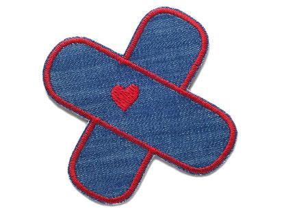 Bild: Flicken Hosenpflaster Jeansflicken Herz rot