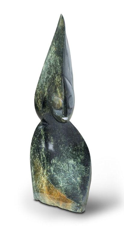 Shona Art Stein Skulptur für den Innenbereich als auch für den Garten. handgefertigt aus grünem Opal Stein. Unikat. © copyright Shona Art Skulpturen - NEUERRAUM