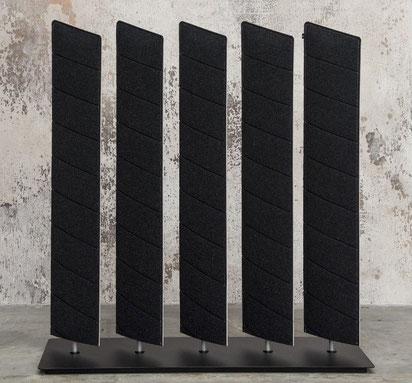 Panneaux acoustiques pivotants sur socle