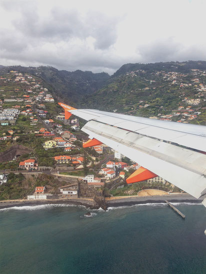 Anflug Madeira Funchal Flughafen