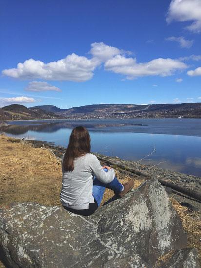 Lillehammer vom See aus