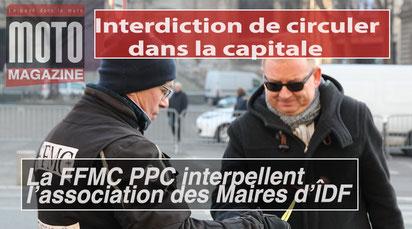 Vidéo de l'action de tractage de la FFMC PPC le 26 janvier 2017 à l'Hôtel de ville de Paris