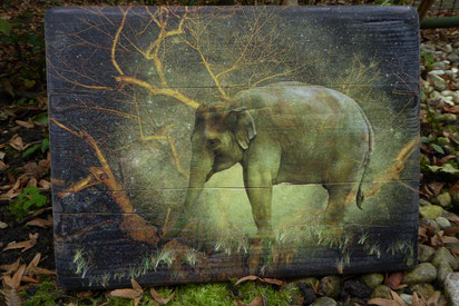 Ganesh, Druck auf Holz