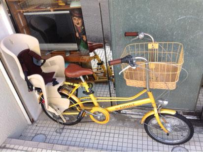 K32アスファルト子供乗せ自転車