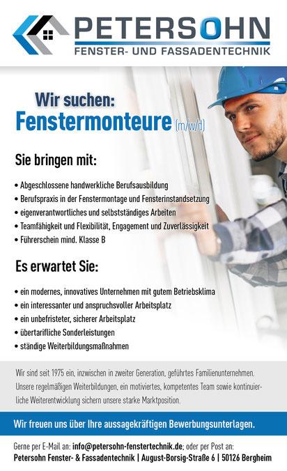 Fensterwartung für Bergheim Erftkreis, Köln, Sindorf, Puhlheim, Brühl...