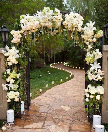 Arco de entrada para boda decoracion fiestas globos fiesta - Decoracion para entradas ...