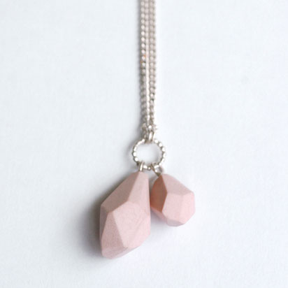 porseleinen ketting roze, porseleinen sieraden