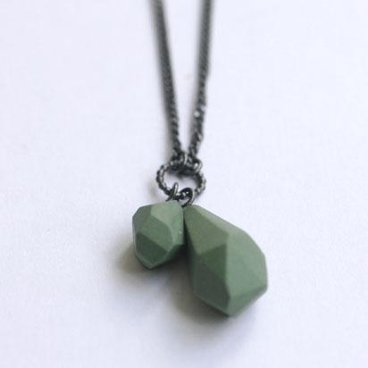 porseleinen ketting groen, porseleinen sieraden