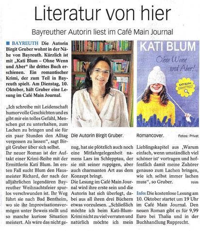 Fränkische Zeitung, Mittwoch 4. Oktober 2017, Nr. 40