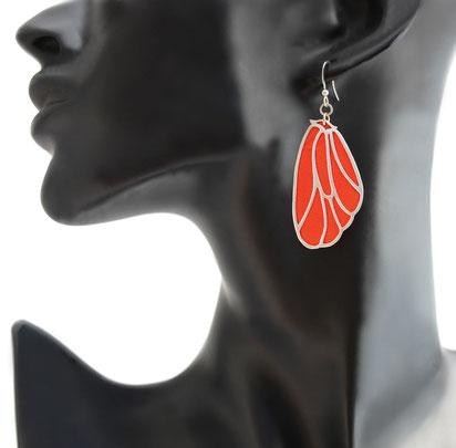créations bijoux- créateur bijoux- bijoux fait main-bijoux cuir- créateur bijoux cuir- création bijoux- -sarayana-handmade jewelry-leather jewelry-bijoux de créateur- boucles d'oreille cuir- boucles d'oreille bleu électrique-boucles d'oreilles ailes