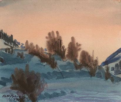 Albert Nyfeler, Winter im Lötschental