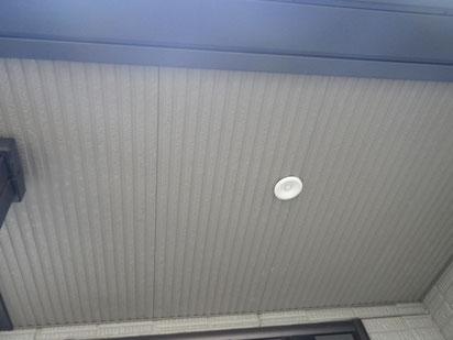 熊本県O様邸屋根・外壁塗装状況。天井塗装BEFORE