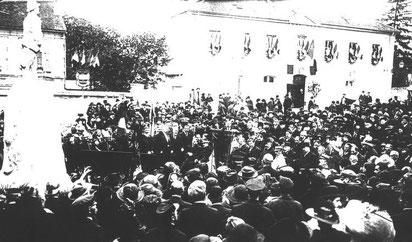 1er novembre 1921, inauguration par M. LUGOL, scrétaire d'état aux régions libérées.