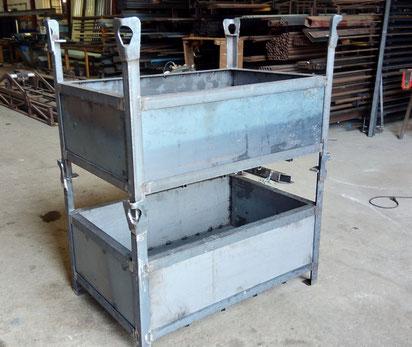 Bacs de stockage pour approvisionnement des chantiers pour ACMB construction Brioux 79