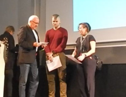 Ralf Verdieck mit Akiko Baldridge-Hohn & Tobias Saladauski