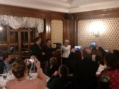 Entrega de placa por el 175 aniversario de la Banda Municipal de Música de Astorga